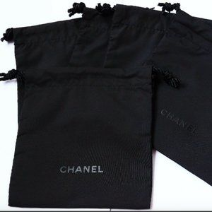 5 CHANEL Signature Small Drawstring Gift Bag Pouch